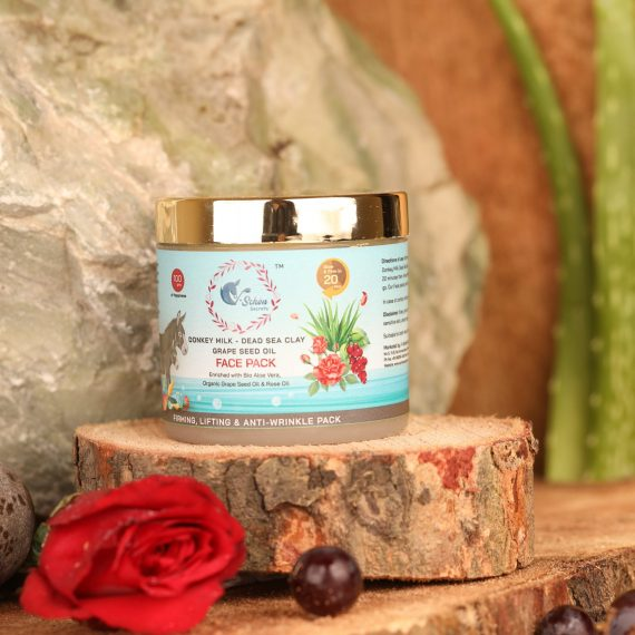Donkey Milk Dead Sea Clay Grape Seed Rose Oil Face Pack