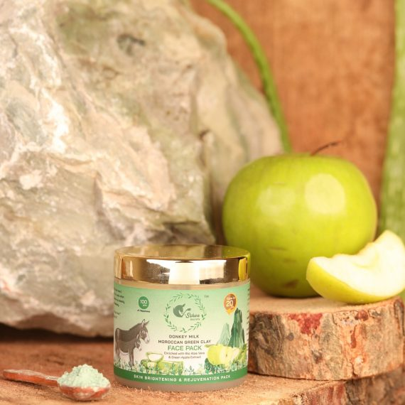 Donkey Milk Moroccan Green Clay face pack